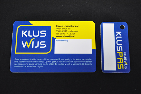 Plastic Membership ID Cards with Detachable Key Ring Back