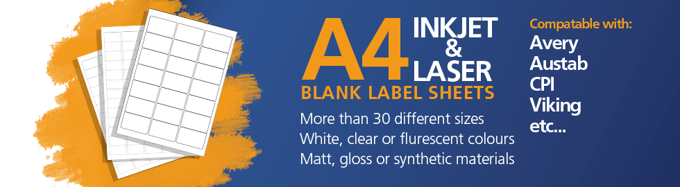 Blank A4 Label Sheets
