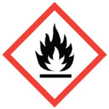 100x100 GHS02 Flame - Dangerous Goods Labels