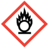 100x100 GHS03 Flame Over Circle - Dangerous Goods Labels