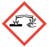 100x100 GHS05 Corrosion - Dangerous Goods Labels