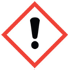 100x100 GHS07 Exclamation Mark - Dangerous Goods Labels