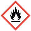 50x50 GHS02 Flame - Dangerous Goods Labels