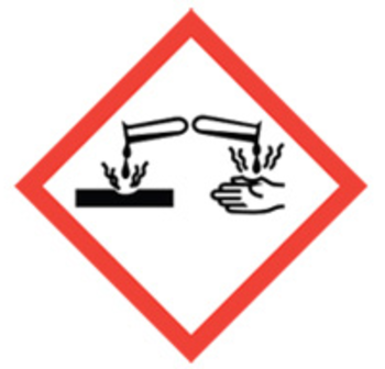 50x50 GHS05 Corrosion - Dangerous Goods Labels