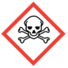 50x50 GHS06 Skull and Crossbones - Dangerous Goods Labels