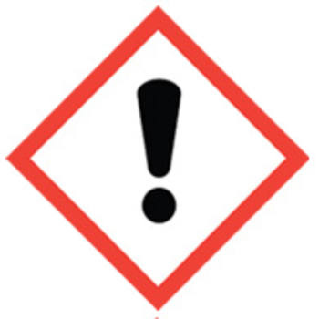 50x50 Ghs07 Exclamation Mark Chemical Storage Dangerous Goods