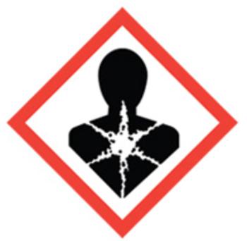 50x50 GHS08 Health Hazard - Dangerous Goods Labels
