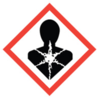 50x50 GHS08 Health Hazard - Dangerous Goods Labels