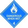 Dangerous When Wet 4 - Dangerous goods labels