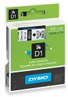 Dymo D1 label cassette - 12mm x 7m - Black on White