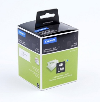 Dymo large address labels, white paper- 36x89 mm x2