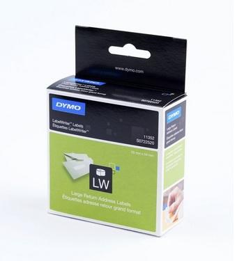 dymo return address labels white paper 25x54 mm label power