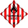 Flammable Solid 4 - Dangerous goods labels