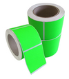 Fluorescent Green Permanent  Labels 77 x 48mm