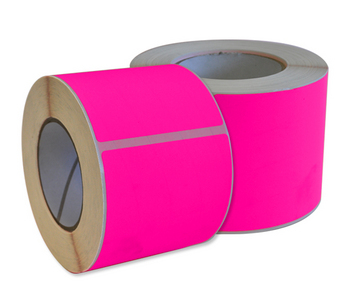 Fluorescent Pink Permanent Labels 99 x 148mm
