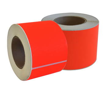Fluorescent Red Permanent Labels 99 x 148mm
