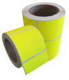 Fluorescent Yellow Permanent Labels 100x100mm