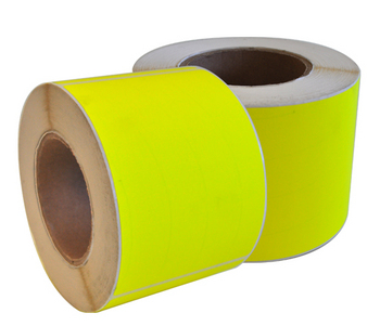 Fluorescent Yellow Permanent Labels 99 x 148mm