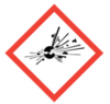 100x100 GHS01 Exploding Bomb - Dangerous Goods Labels