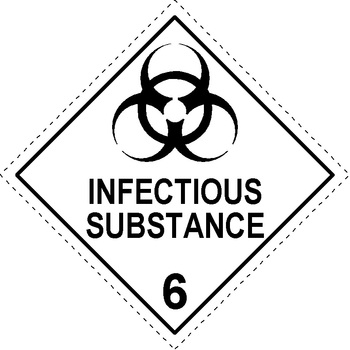 Infectious Substance - Dangerous goods labels