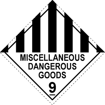 Miscellaneous Dangerous Goods Labels 9