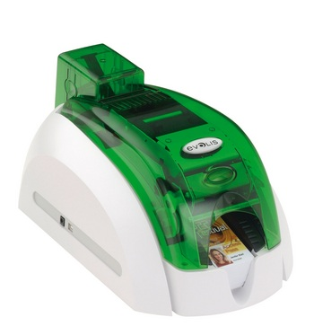 Pebble4 plastic card printer - Basic USB (Jungle Green) - Obsolete