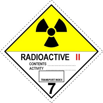 Pre Printed Radioactive Iii Sticker Labels Label Power
