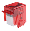 Removable 100 Card Hopper Cartridge - Fire Red