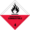 Spontaneously Combustible - Dangerous goods labels