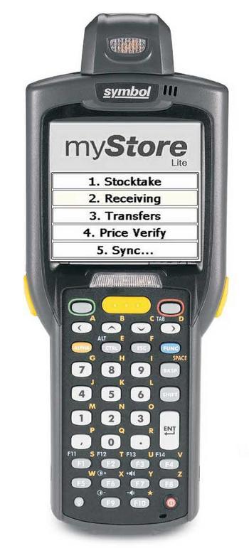 Symbol Mystore Lite Barcode Scanner Label Power Australia