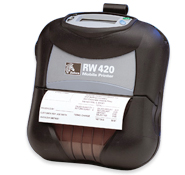 Zebra RW420 direct thermal mobile printer